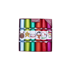 Sada 6 vianočných crackerov Robin Reed Multi Colour Characters