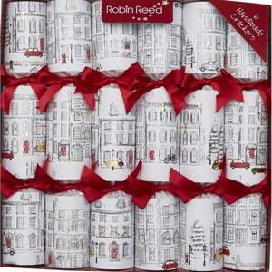 Súprava 6 vianočných crackerov Robin Reed Christmas Uptown