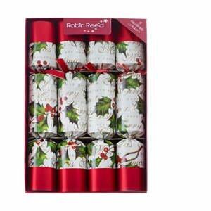 Súprava 8 vianočných crackerov Robin Reed Bow & Berries