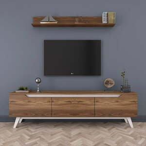 Set TV stolíka a nástennej police v drevenom dekore Rani