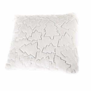 Biela obliečka na vankúš s vianočnými motívmi Dakls, 40 x 40 cm