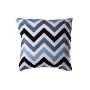 Modro-sivý vankúš JAHU Geometry Zigzag, 45 x 45 cm