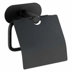 Čierny nástenný držiak na toaletný papier Wenko Orea