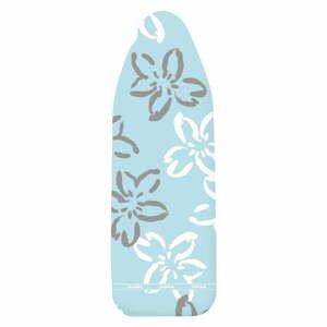 Modrý bavlnený poťah na žehliacu dosku Wenko Flowers XL