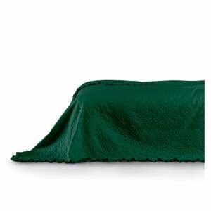 Zelený pléd cez posteľ AmeliaHome Tilia, 240x220cm