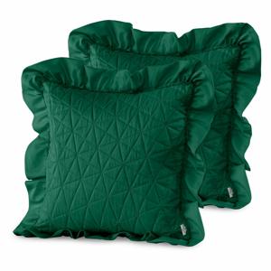 Súprava 2 zelených obliečok na vankúš AmeliaHome Tilia, 45 × 45 cm