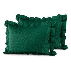 Súprava 2 zelených obliečok na vankúš AmeliaHome Tilia, 70 × 50 cm