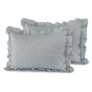 Súprava 2 sivých obliečok na vankúš AmeliaHome Tilia, 70 × 50 cm
