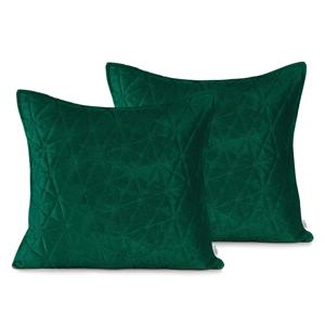 Súprava 2 zelených obliečok na vankúš AmeliaHome Laila, 45 × 45 cm