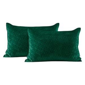 Súprava 2 zelených obliečok na vankúš AmeliaHome Laila, 70 × 50 cm