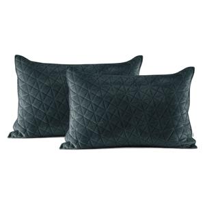 Súprava 2 tmavosivých obliečok na vankúš AmeliaHome Laila, 70 × 50 cm