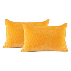 Súprava 2 žltých obliečok na vankúš AmeliaHome Laila, 70 × 50 cm