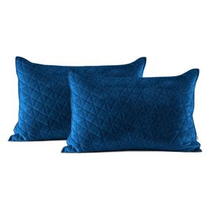 Súprava 2 modrých obliečok na vankúš AmeliaHome Laila, 70 × 50 cm