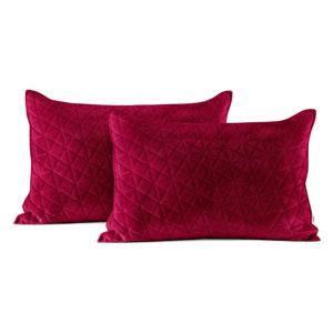 Súprava 2 červených obliečok na vankúš AmeliaHome Laila, 70 × 50 cm