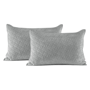 Súprava 2 sivých obliečok na vankúš AmeliaHome Laila, 70 × 50 cm