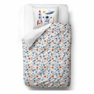 Detské obliečky z bavlneného saténu Mr. Little Fox Space, 100 x 130 cm
