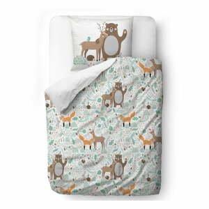 Detské obliečky z bavlneného saténu Mr. Little Fox Dear Friends, 100 x 130 cm