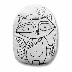 Obliečka na vankúš z bavlneného saténu Mr. Little Fox Fox Indian Racoon