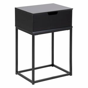 Čierny nočný stolík Actona Mitra, 40 x 30 cm