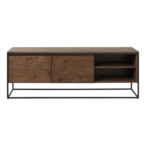 TV stolík s detailmi v dubovom dekore Unique Furniture Rivoli