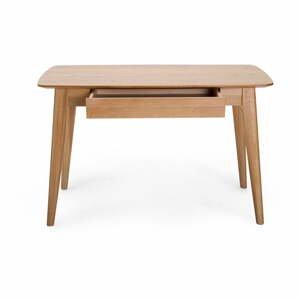 Písací stôl so zásuvkou a s nohami z dubového dreva Unique Furniture Rho, 120x60cm