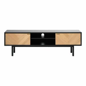 TV komoda s detailmi v dubovom dekore Unique Furniture Calvi