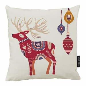 Vianočný vankúš s bavlnenou obliečkou Butter Kings Folk, 50 x 50 cm