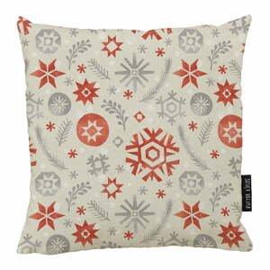 Vianočný vankúš s bavlnenou obliečkou Butter Kings Snowflake Frost, 50 x 50 cm