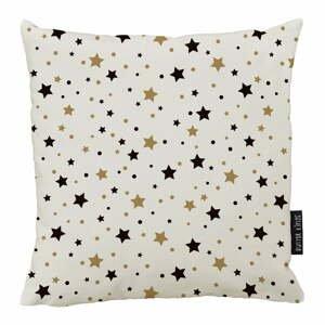 Vianočný vankúš s bavlnenou obliečkou Butter Kings Golden Stars, 50 x 50 cm