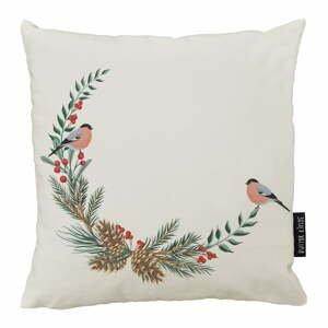 Vianočný vankúš s bavlnenou obliečkou Butter Kings Winter Forest, 50 x 50 cm