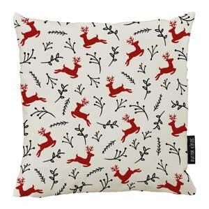 Vianočný vankúš s bavlnenou obliečkou Butter Kings Deer, 50 x 50 cm