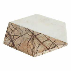 Bielo-béžový mramorový servírovací podnos Premier Housewares Marble