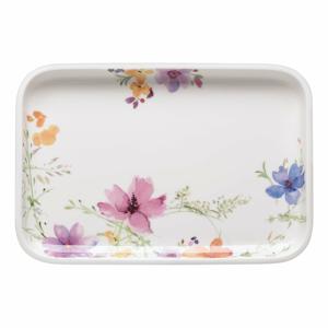 Servírovací porcelánový podnos s motívom kvetín Villeroy & Boch Mariefleur Basic, 32 x 22 cm