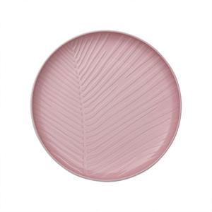 Bielo-ružový porcelánový tanier Villeroy & Boch Leaf, ⌀ 24 cm