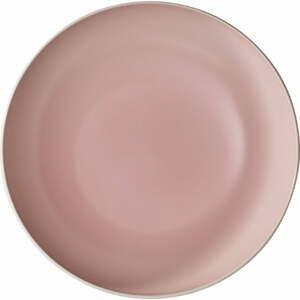 Bielo-ružová porcelánová servírovacia miska Villeroy & Boch Uni, ⌀ 26 cm