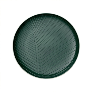 Bielo-zelený porcelánový tanier Villeroy & Boch Leaf, ⌀ 24 cm