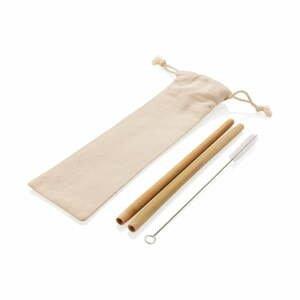 Set 2 bambusových slamiek s čistiacou kefkou a obalom XD Collection