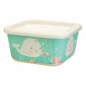 Detský zelený obedový box Sass & Belle Alma Narwhal