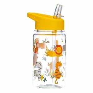 Detská fľaša na vodu so slamkou Sass & Belle Drink Up Safari, 400 ml