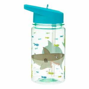 Detská fľaša na vodu so slamkou Sass & Belle Drink Up Shelby the Shark, 400 ml
