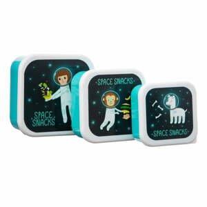 Sada 3 detských obedových boxov Sass & Belle Space Explorer