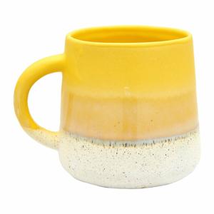 Žlto-biely hrnček Sass & Belle Bohemian Home Mojave, 400 ml