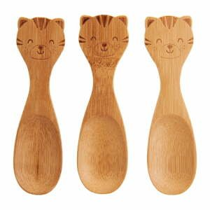 Sada 3 detských bambusových lyžičiek Sass & Belle Farmyard Friends Tiger