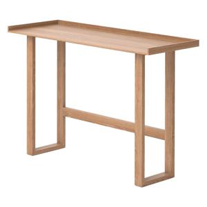 Písací stôl z masívneho dubového dreva Wireworks Slim