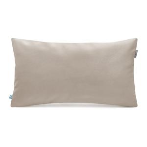 Béžová obliečka na vankúš so zamatovým povrchom Mumla Velvet, 30 x 50 cm