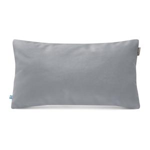 Svetlosivá obliečka na vankúš so zamatovým povrchom Mumla Velvet, 30 x 50 cm