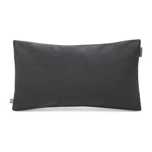 Tmavosivá obliečka na vankúš so zamatovým povrchom Mumla Velvet, 30 x 50 cm