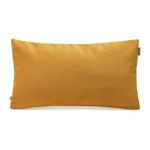 Žltá obliečka na vankúš so zamatovým povrchom Mumla Velvet, 30 x 50 cm