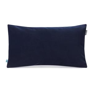 Námornícky modrá obliečka na vankúš so zamatovým povrchom Mumla Velvet, 30 x 50 cm