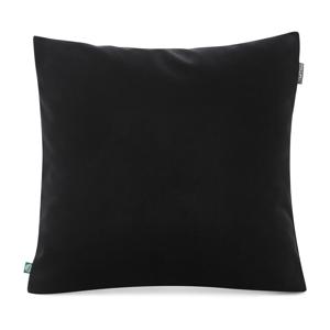 Čierna obliečka na vankúš so zamatovým povrchom Mumla Velvet, 45 x 45 cm